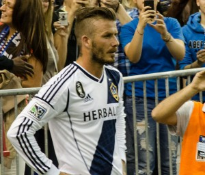 David Beckham - the most famous name, face and hair in football