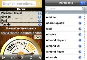 Screentshots of the Foodmatic App